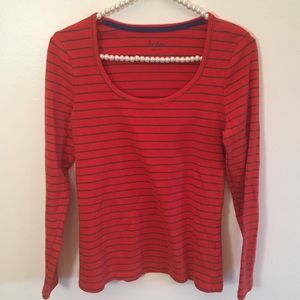 Boden striped long sleeve top size 8